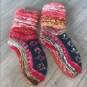 Knit Slipper Booties